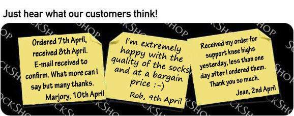 What our customers think at SockShop.co.uk - 18th April 2011
