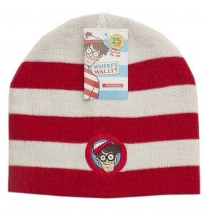 Mens, Ladies And Kids Where's Wally Striped Hat