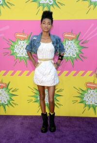 Willow Smith shows off socks
