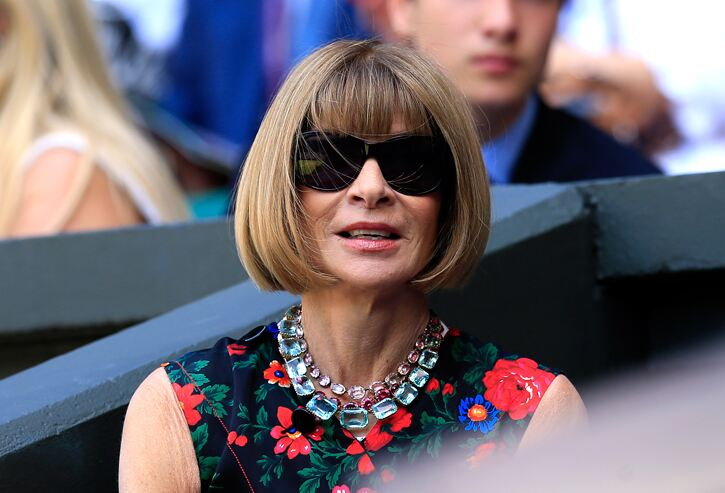 Vogue Editor Anna Wintour ahead of the game with floral prints at last year's event. Jonathan Brady/PA Wire