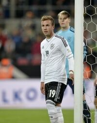 Wrong socks for Mario Goetze