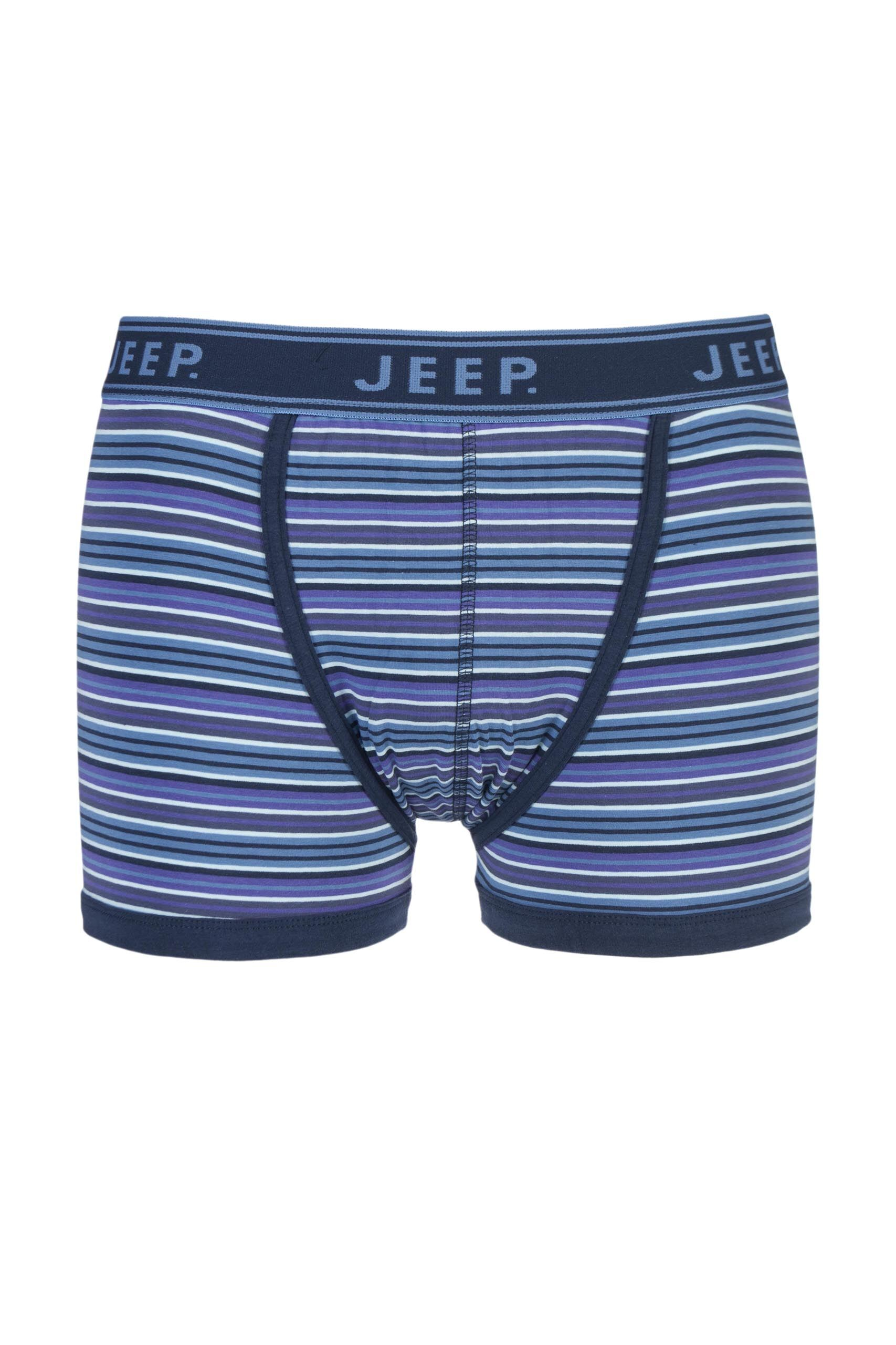Image of 1 Pack Blue Spirit Cotton Fine Stripe Trunks In Blue Men's Small - Jeep