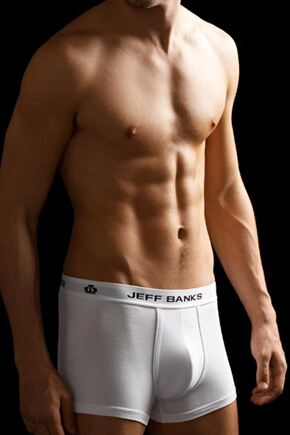 Mens 2 Pack Jeff Banks Durham Fitted Hipster Trunk Boxer Shorts In 2 Colours White