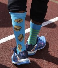 Yohan Blake: Socks man