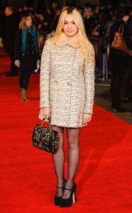 Zara Martin in sheer black tights