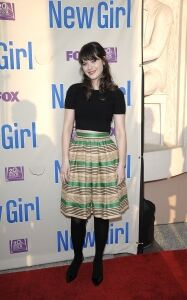 Zooey opts for indie chic look